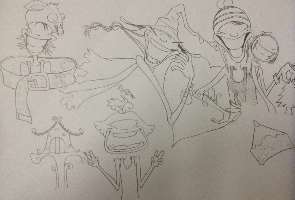 手绘卡通线稿|动漫|动画片|0羊脂球0 - 原创作品