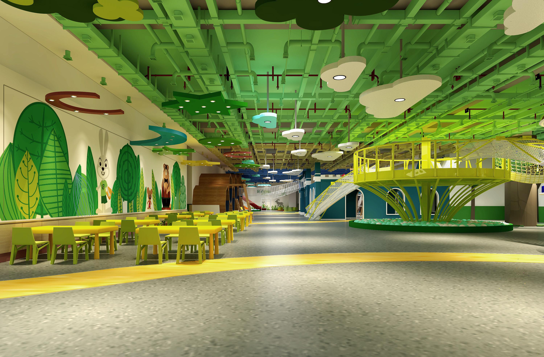 室内儿童游乐场~ 空间 室内设计 张丽天斐效果图片