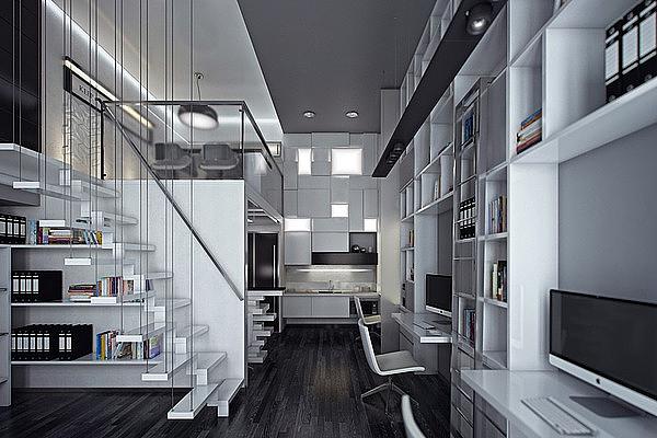 loft办公室装修开发区的一楼整体布局-成都办公室装修