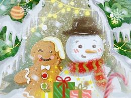 圣诞插画海报