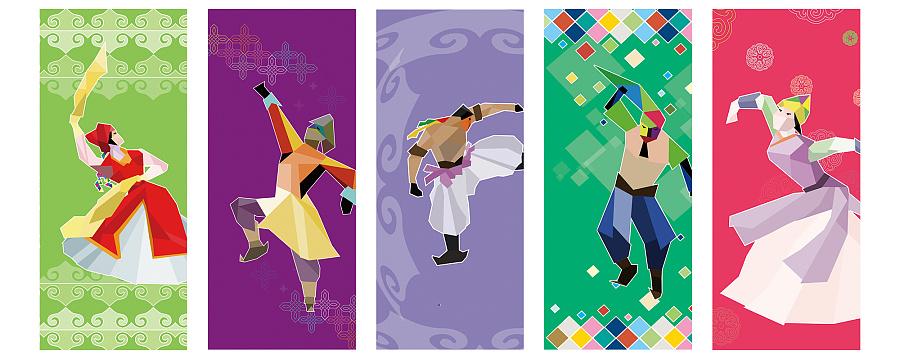 蒙古族舞蹈卡通人物