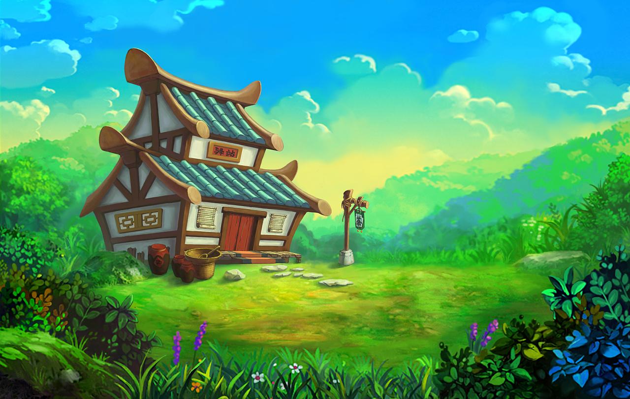 游戏场景概念设定《中世纪与中国风系列》#动漫作品