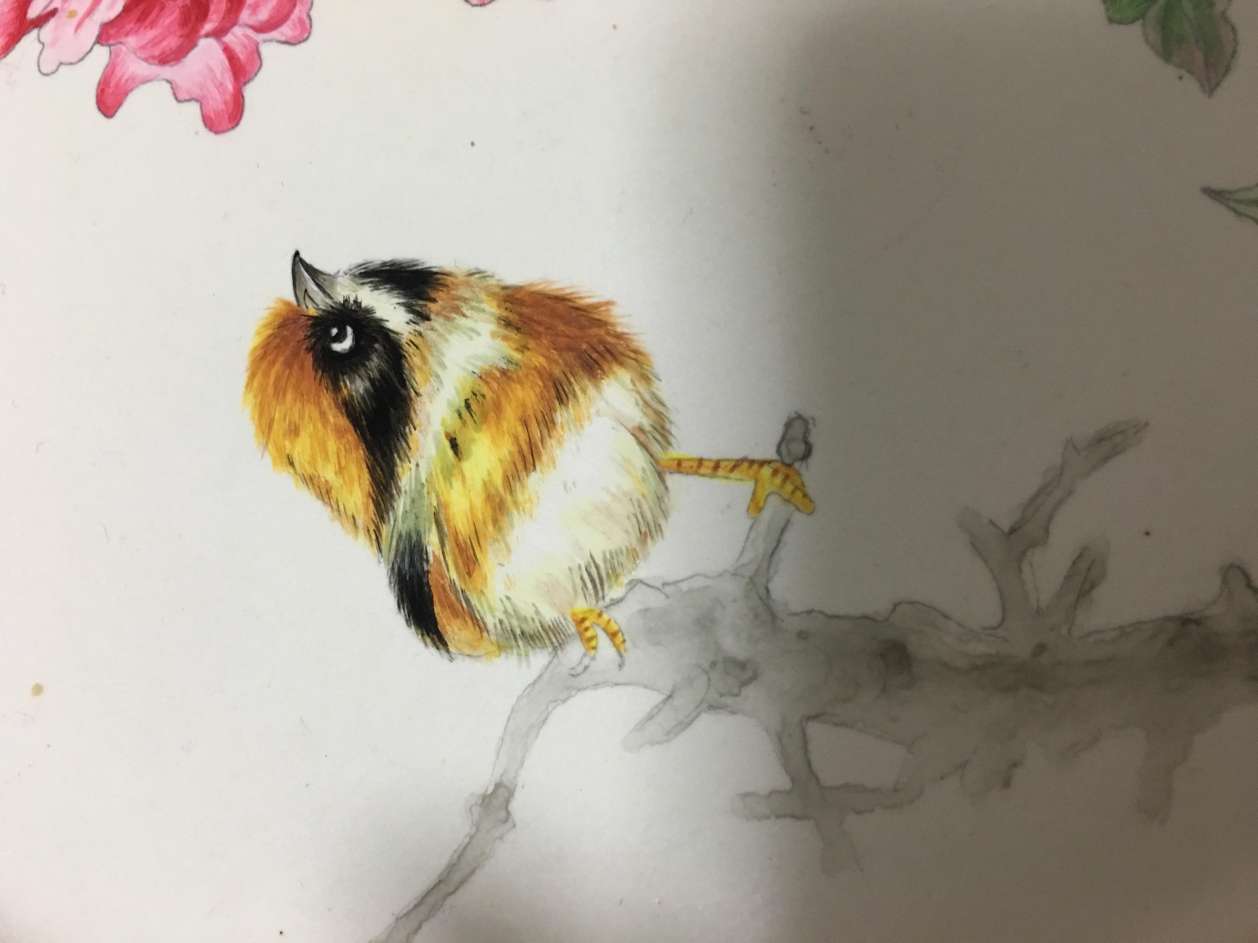 手绘 工笔盘!中国艺术