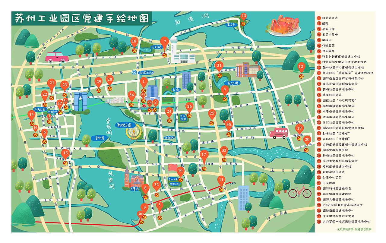 手绘地图-旅游