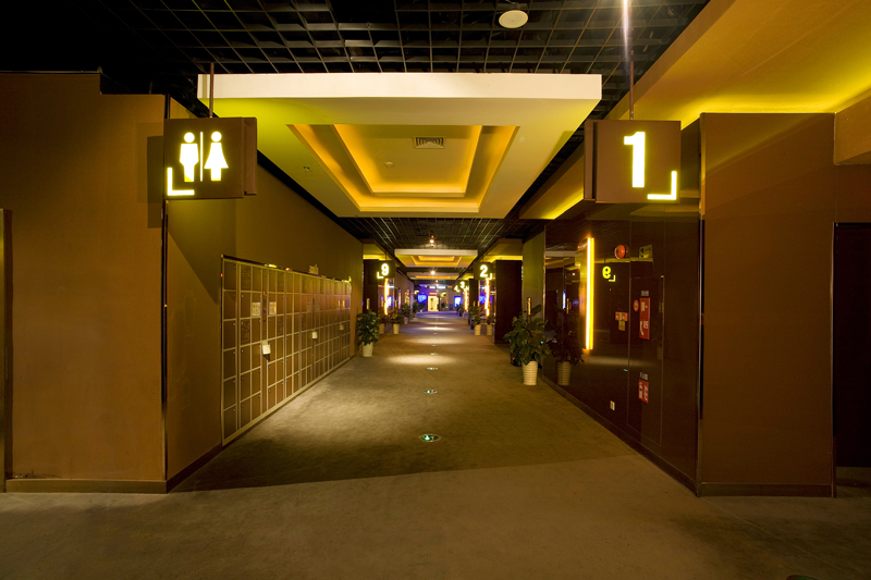 广州万达国际电影院室内环境摄影恐怖的理发店免费电影图片