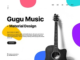 Gugu Music Material Design(音乐概念APP)