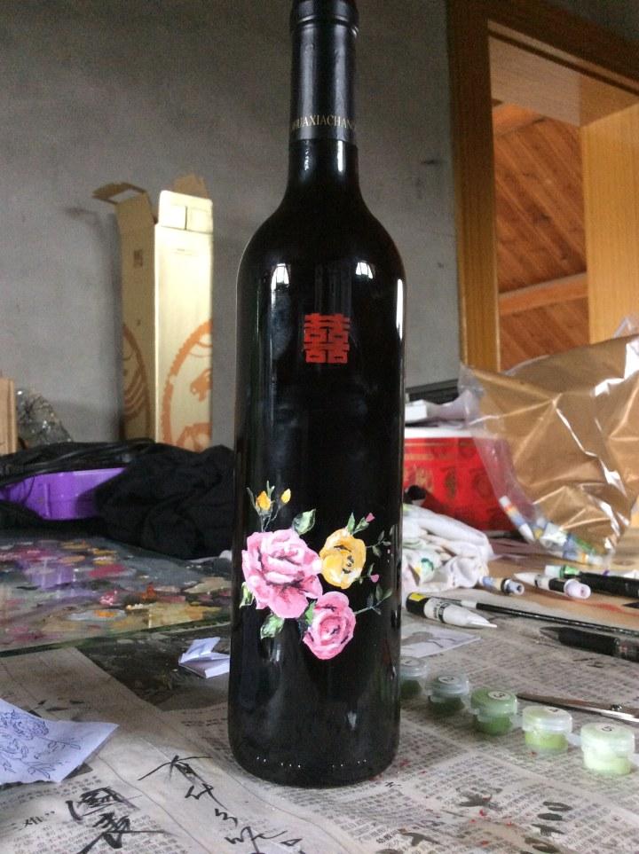 手绘红酒瓶|绘画习作|插画|好久不见2511