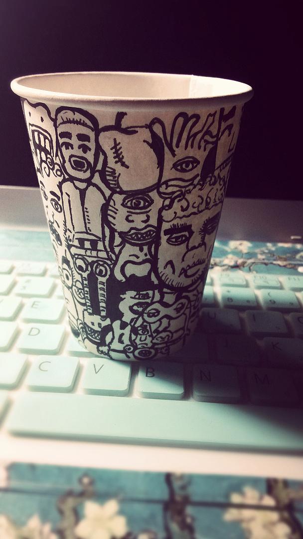 创意手绘纸杯