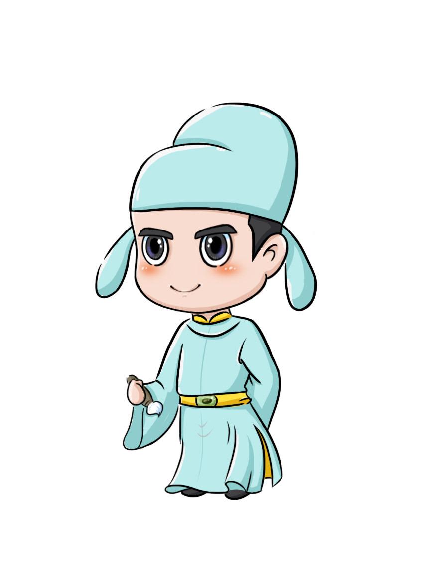 李白卡通人物手绘