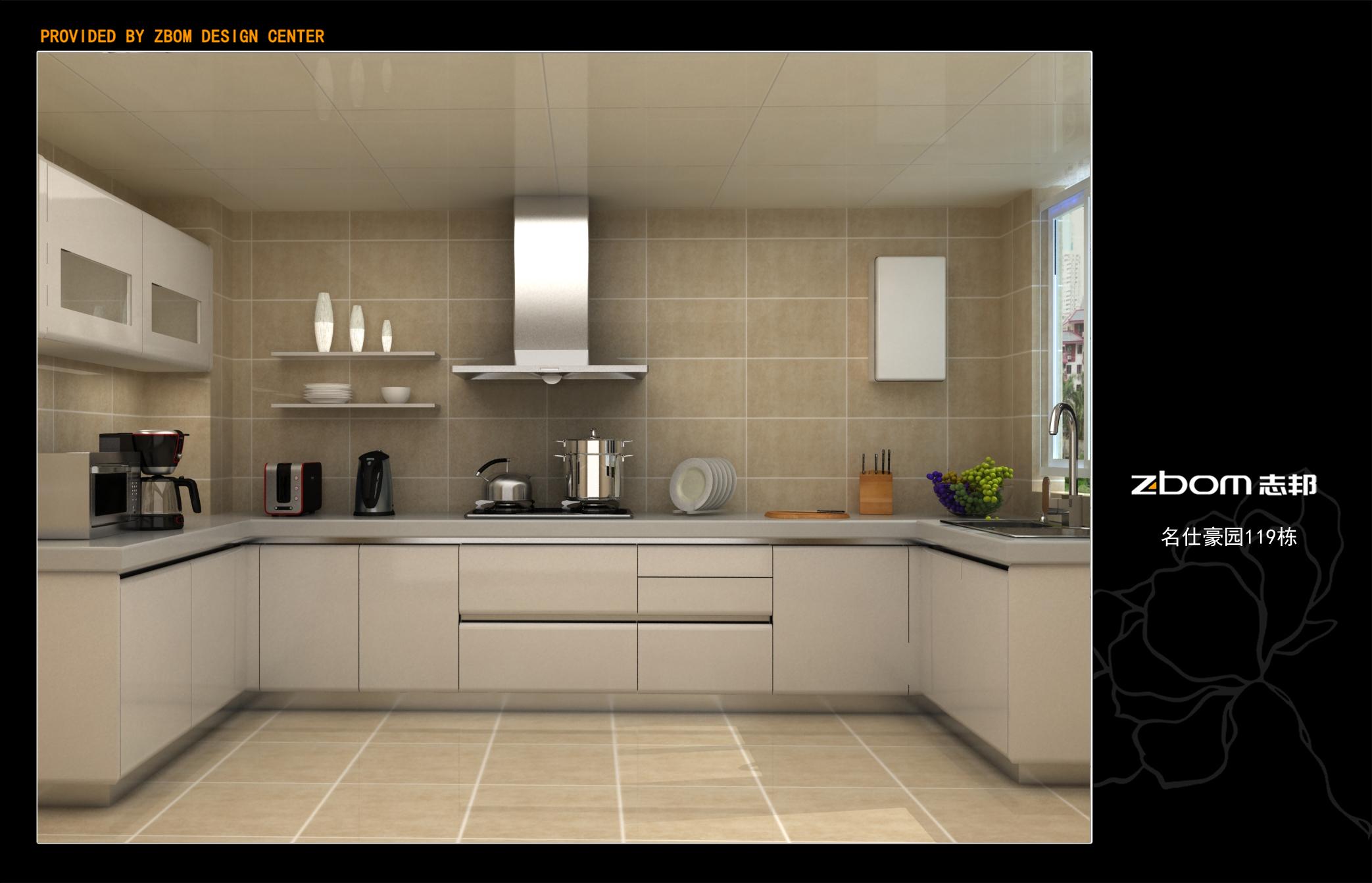 厨柜效果图|空间|展示设计 |五只的说 - 原创作品