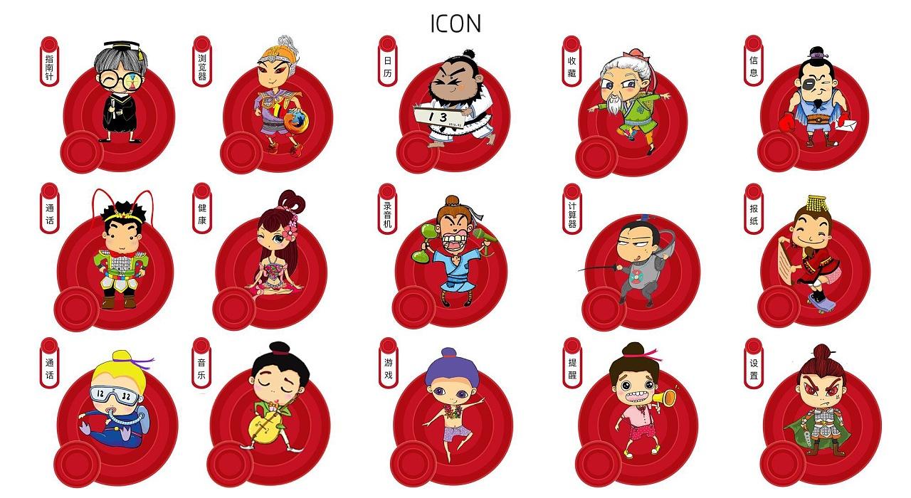 这套icon取材于《三国演义》里面一些经典人物.