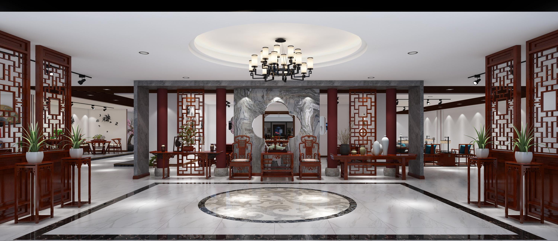 苏州红木家具展厅一,二,三层效果图表现家具厂峰少