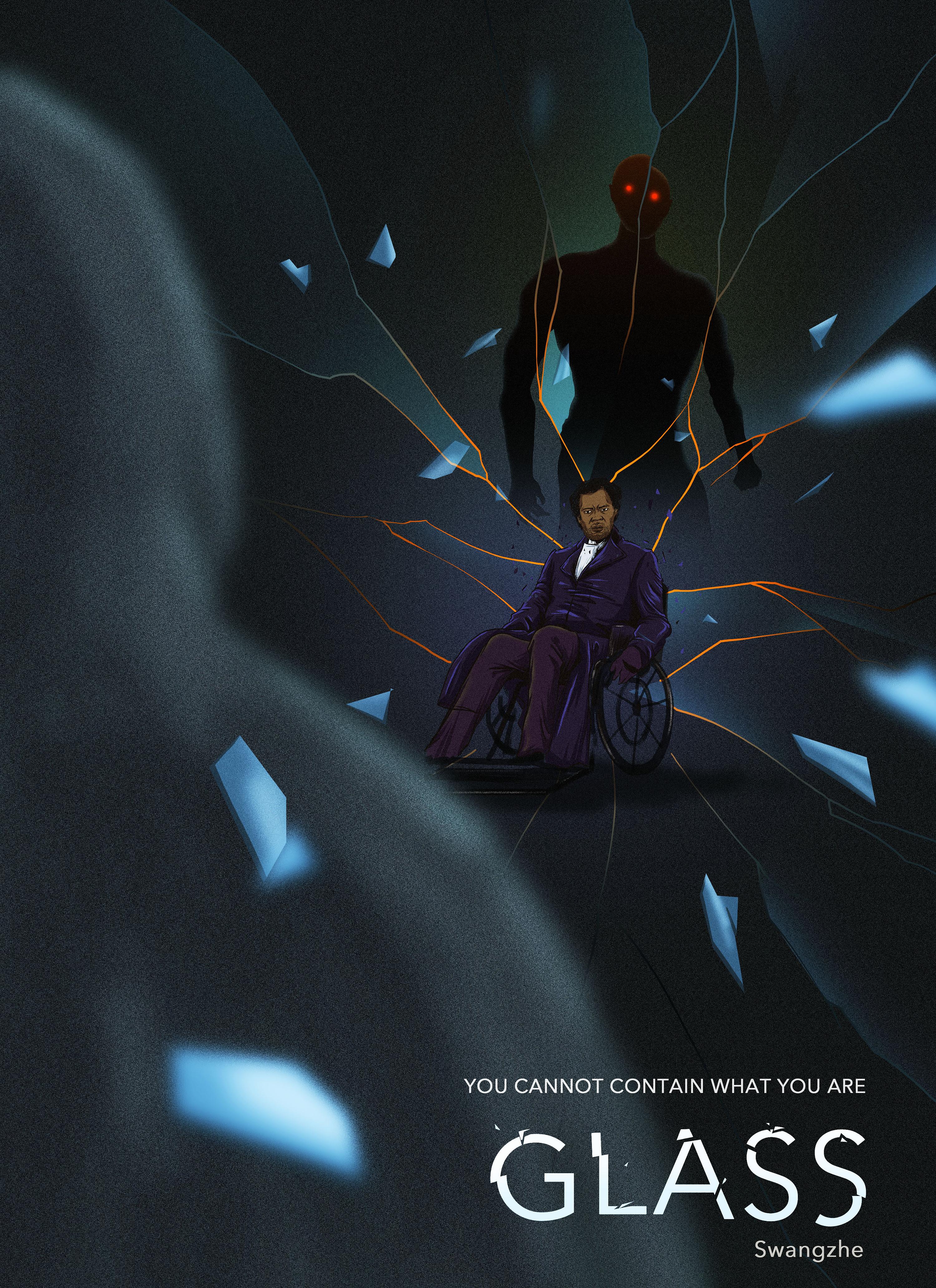 《玻璃先生》电影手绘海报