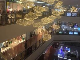 大型购物中心开业中厅吊顶美陈中庭吊饰定制工厂铭星厂