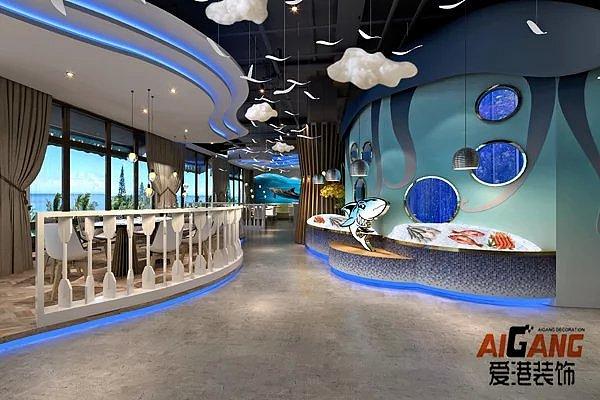 重庆低调酒楼装修,海鲜餐厅餐厅装饰,饭店装修主题奢华的装修设计效果图图片