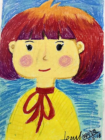儿童油画棒绘本人物塑造
