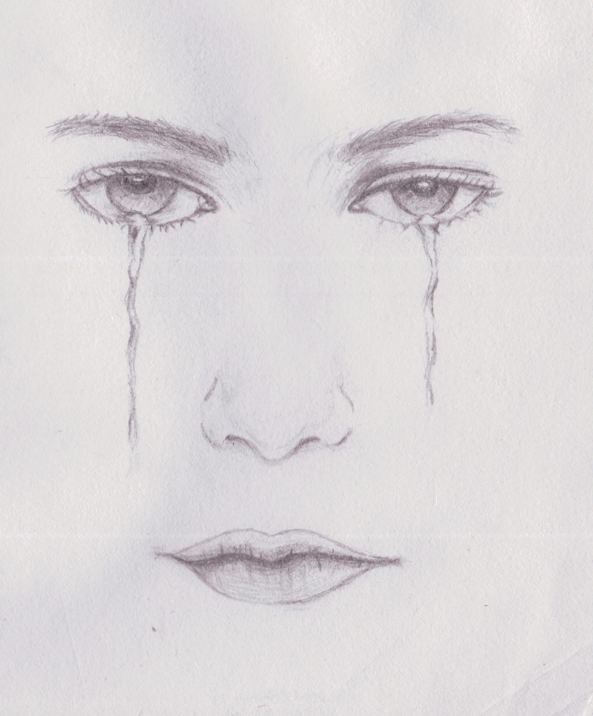 流泪的眼睛素描