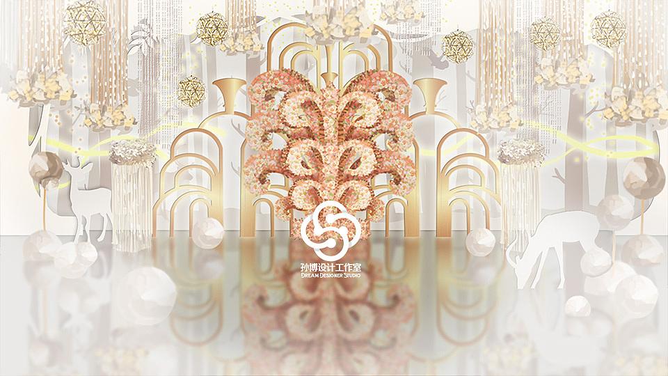 婚礼手绘欣赏,乌托邦,简洁西式|空间|舞台美术|孙博室