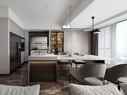 龙湖春江天镜118平户型装修,休闲时尚现代简约风设计图