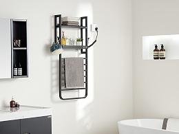 电热毛巾架/卫浴挂件拍摄