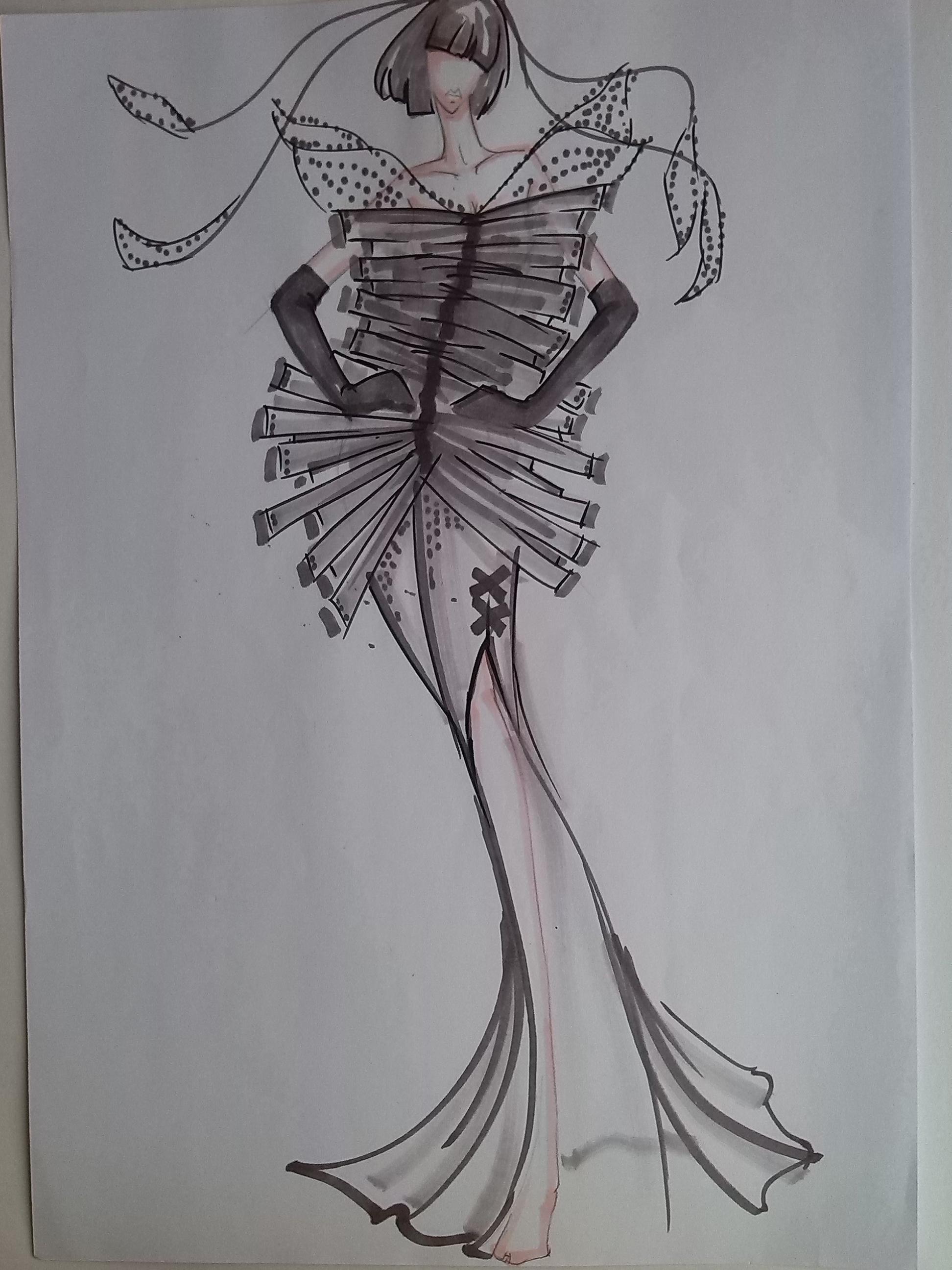 马克笔手绘效果图|服装|其他服装|哈哈youlook - 原创