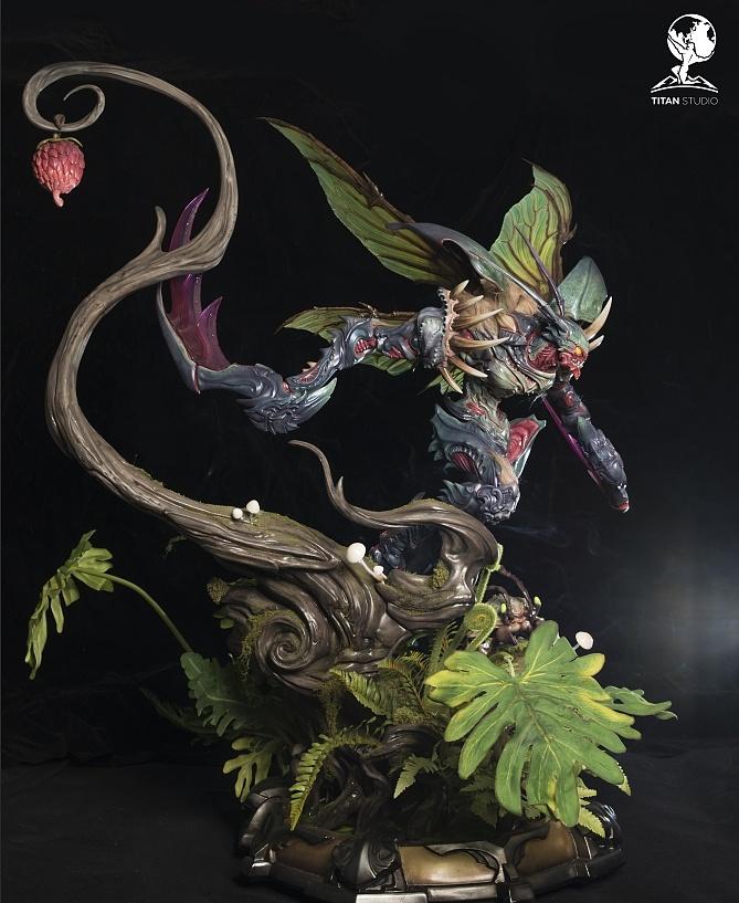 lol皮哹�i���yk�9a�(�\�_泰坦原创 i 《英雄联盟lol-虚空掠夺者卡兹克》雕像