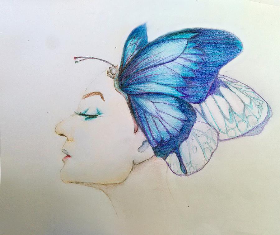 彩铅手绘头像|绘画习作|插画|翎鸢