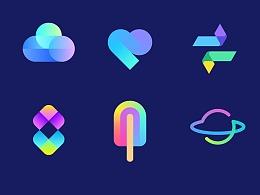 【Logo设计】渐变风格图标