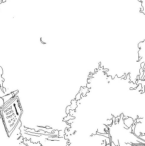 山顶总平面图 手绘