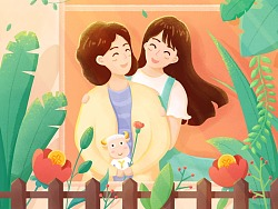 手绘/GIF 母亲节专题页面