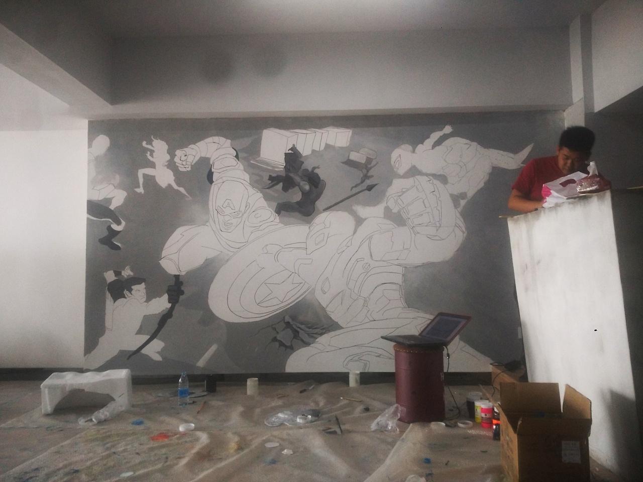 健身房 墙绘