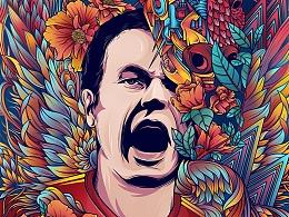 2018世界杯插画系列——西班牙伊涅斯塔