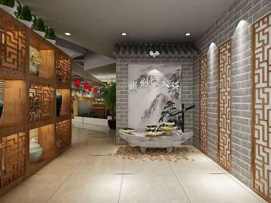 西安蜀剑门火锅店装修效果图|建筑设计|空间/建筑|室