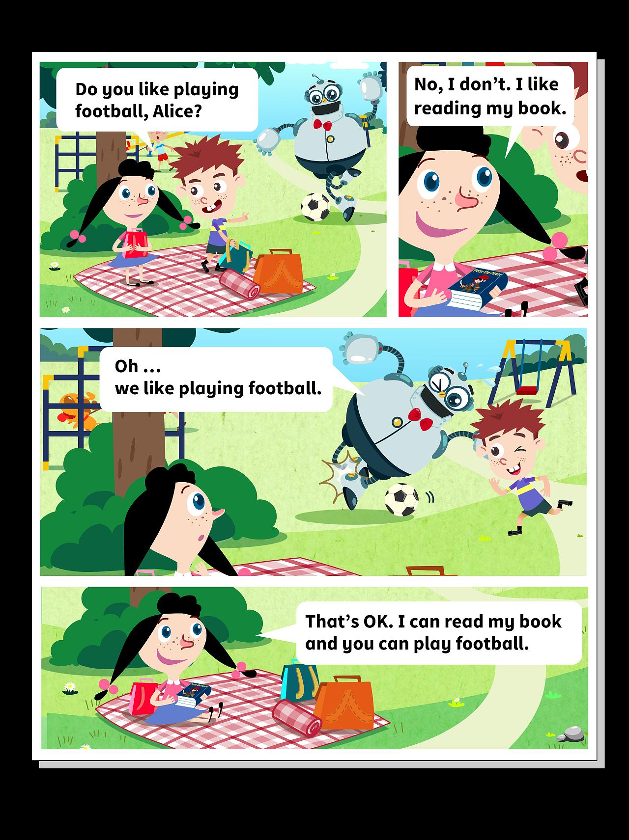 英语教材配图漫画太过分别漫画图片