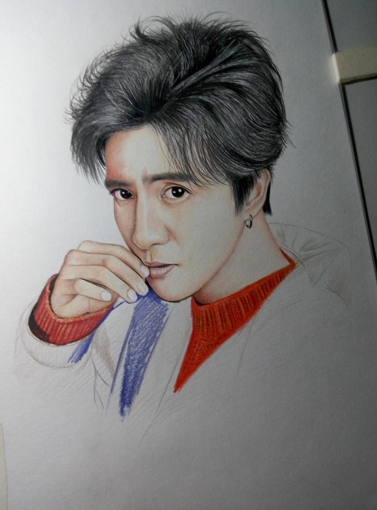手绘薛之谦彩铅肖像