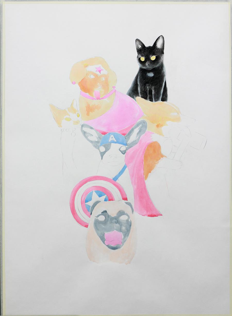 【宠物战士篇】——手绘彩铅