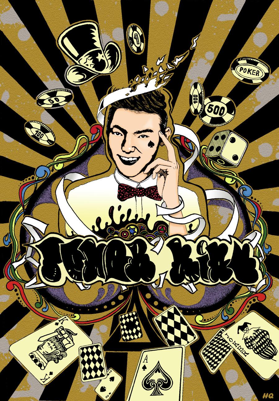 插图设计课程作业《poker king》|绘画习作|插画