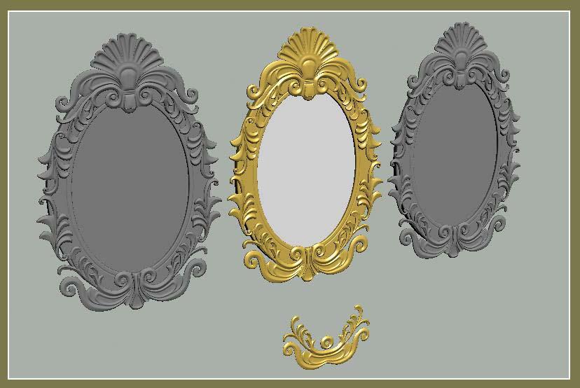 原创作品:雕花镜子图片