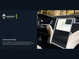 Touch-screen UI Design for Renault
