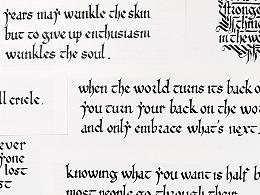 [Calligraphy X Lettering]手写西文字体之早期哥特体