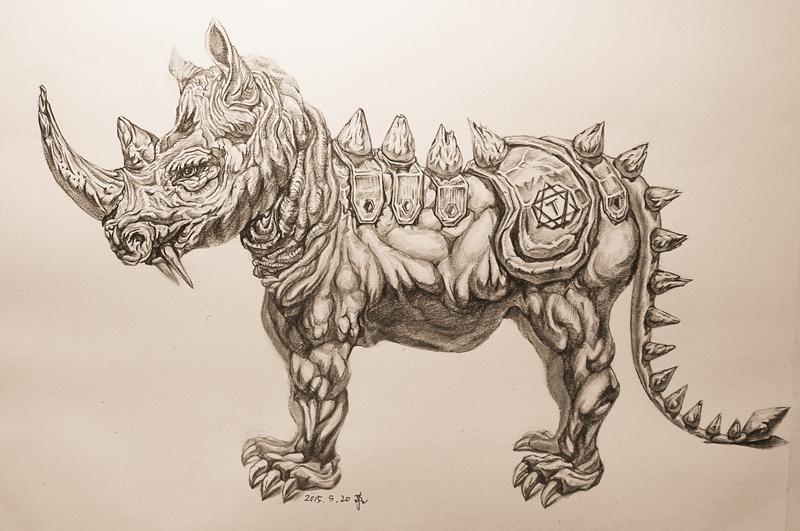 怪兽---素描练习|素描|纯艺术|流水迢迢图片