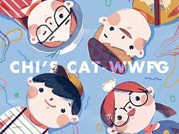 CHI'S CAT-WWFG 插画修炼团