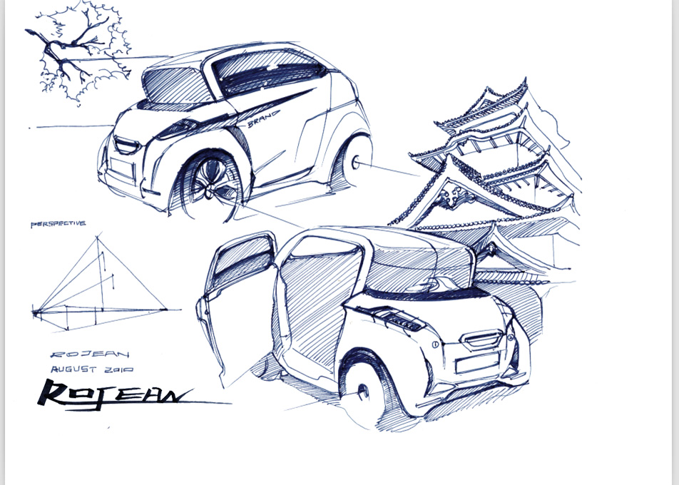 【汽车类】汽车手绘表现图(水笔)高清,无码,无水印大图分享!
