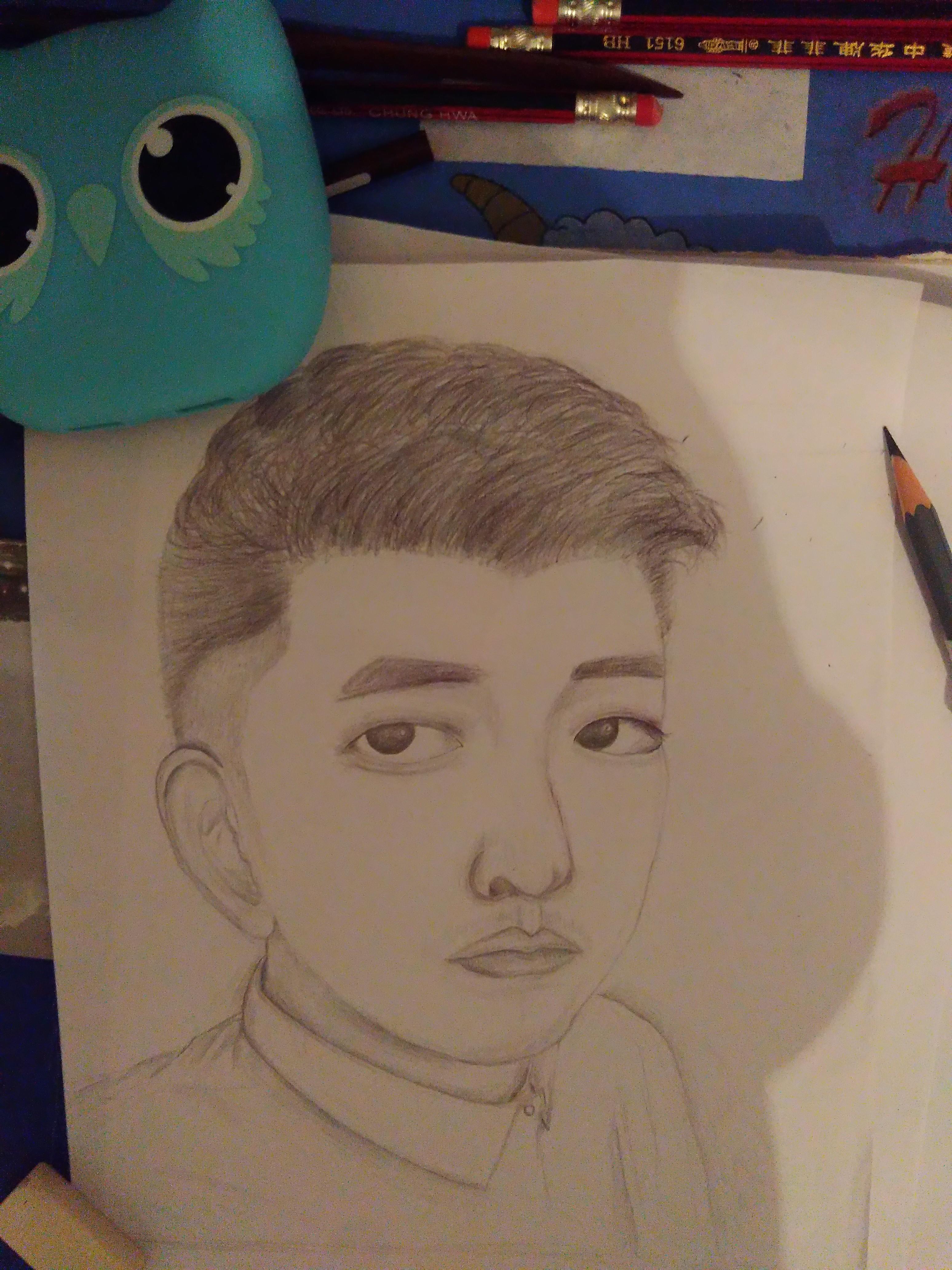 手绘头像一枚|插画|像素画|rita小黄人 - 原创作品