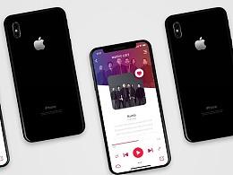 炫彩PhoneX music app设计 临摹练习