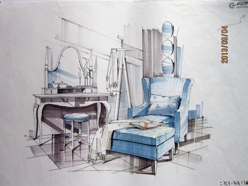 学生时代(室内手绘设计)