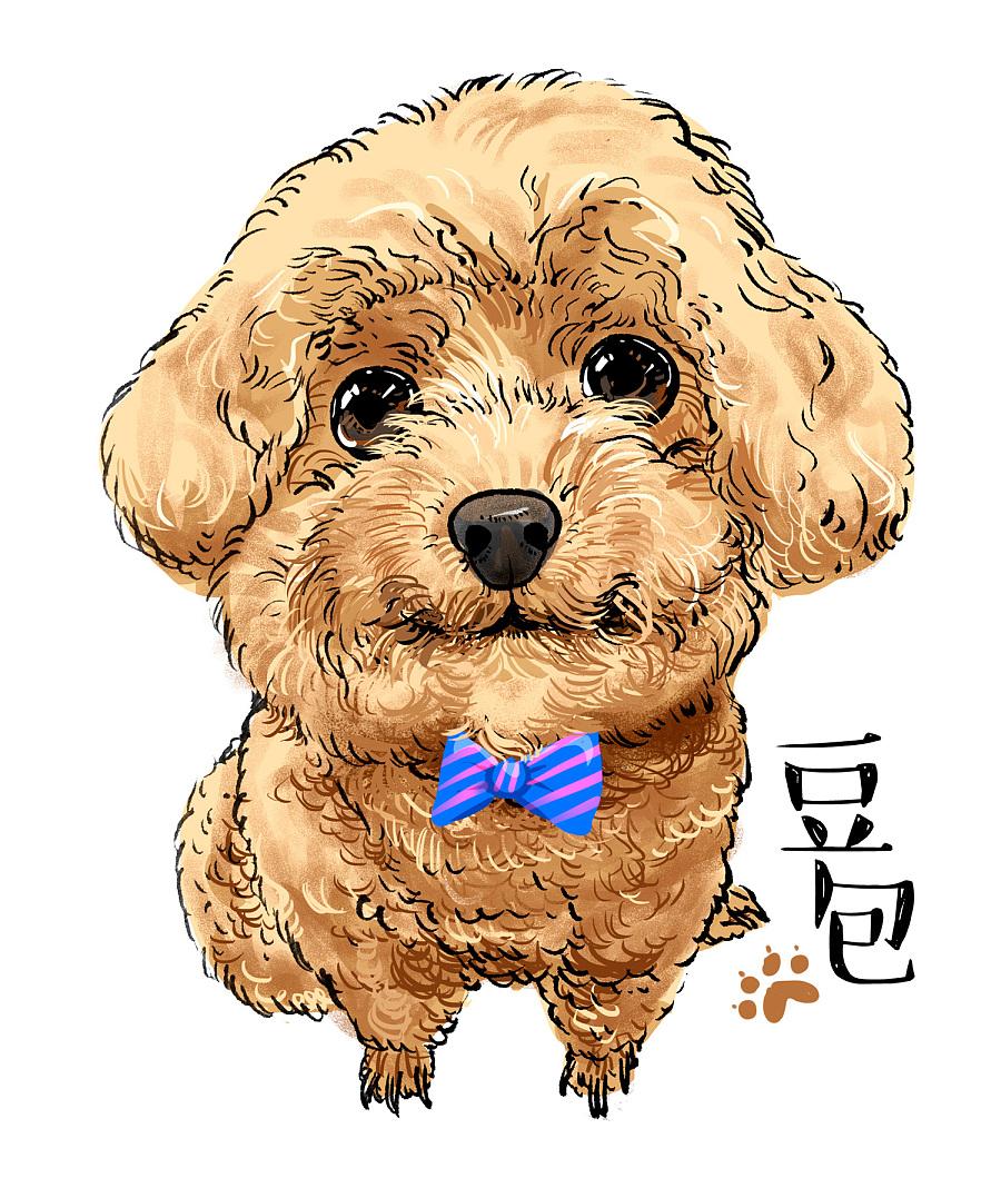 萌宠清新手绘插画