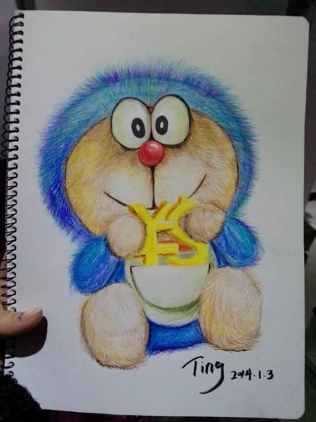 蓝忘机图片手绘彩铅