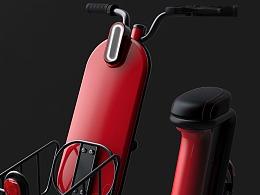 哈士奇设计作品 - 共享电动踏板车