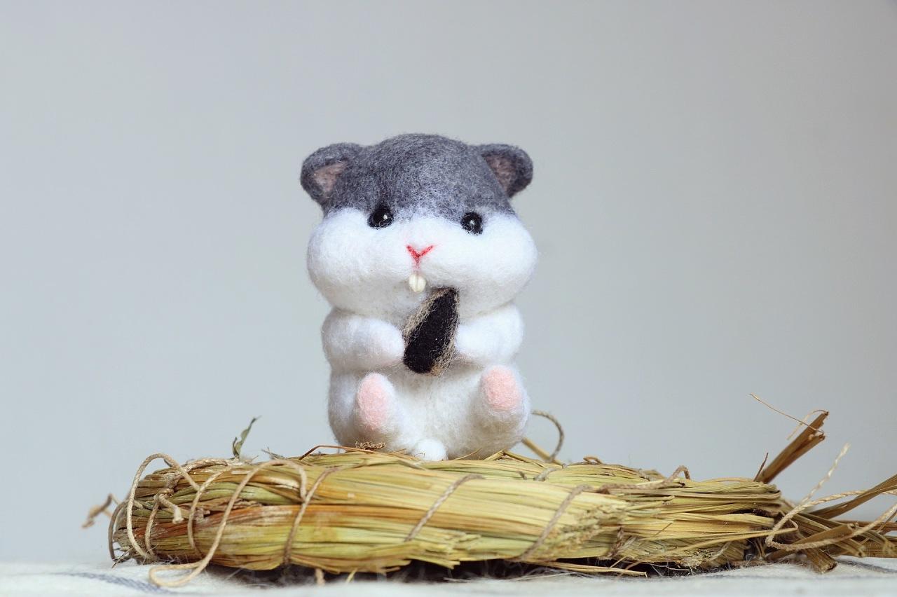 萌系羊毛毡手工小动物